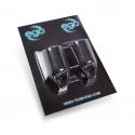 Pakke med 2 stk. silikone EGO Biogreb (Straight) i sort - Op til 19MM tube