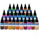 Komplet sæt med 25 stk. Intenze Ink New Colours 30ml (1oz)