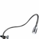 Fleksibelt spotlys med forstørelsesglas til brug under tatovering. EU-KABLER