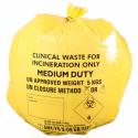 Pakke med 50 stk. gule, kliniske affaldsposer