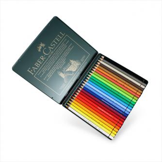 Faber-Castell - Blikælske med 24 stk. Polychromos Artists blyanter