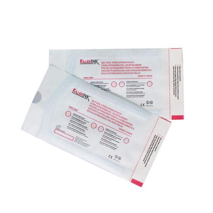 Pakke med 200 breve Killer Ink Autoklave selvforseglingssterilisering