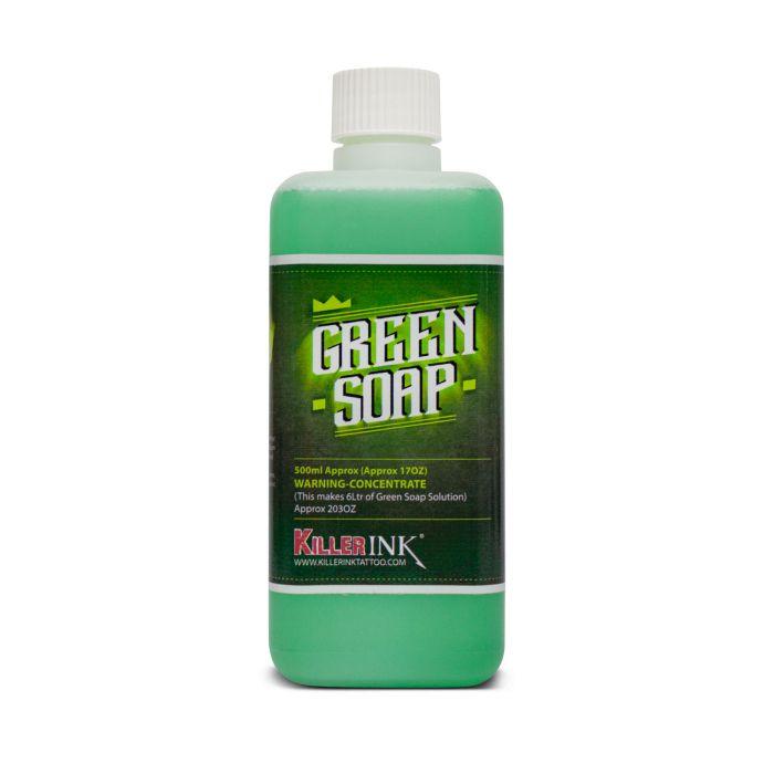 500ml Killer Ink koncentreret grøn sæbe på flaske