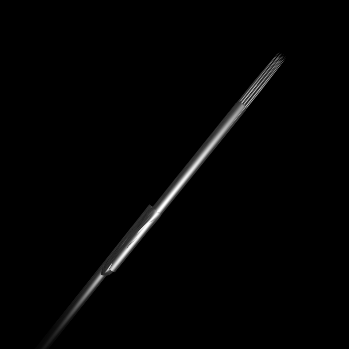 Pakke med 25 stk. Killer Ink Bug Pin 0.25 mm sterile tatoveringsnåle i rustfrit stål med runde Shaders