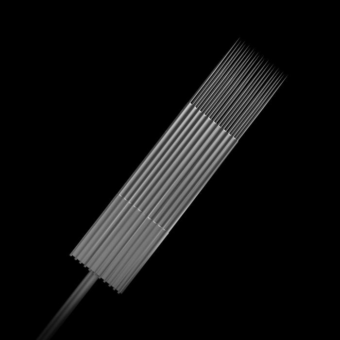 Pakke med 25 stk. Killer Ink Precision #10 0.30 mm sterile Magnum weaved nåle i rustfrit stål