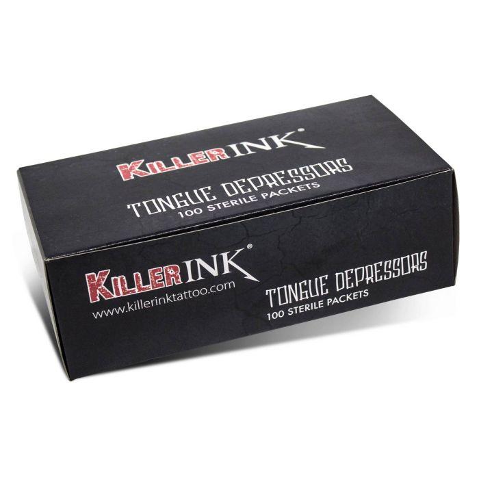 Pakke med 100 stk. Killer Ink Tungespatler I steril pakke
