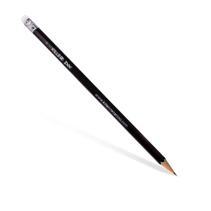 Pakke med 10 HB blyanter med viskelæder