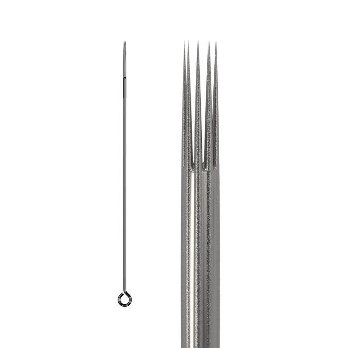 Pakke med 50 stk. KWADRON nåle 0.35 mm LONG TAPER BUGPIN TEXTURED - round Shader