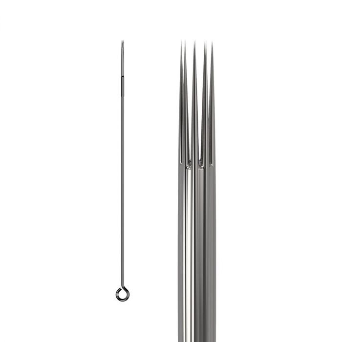 Pakke med 50 stk. KWADRON nåle 0.25 mm LONG TAPER - Round Shader