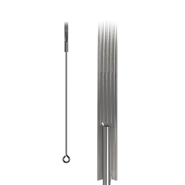 Pakke med 50 stk. KWADRON nåle 0.35 mm LONG TAPER BUGPIN TEXTURED - Soft Edge Magnum